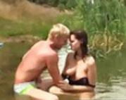Amateur Sexfilm mit jungem Paar