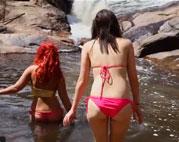 Geile Bikini Lesben total rasiert