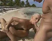 Strand Sex zu dritt