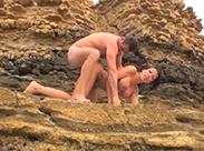 Anal gefickt am Strand