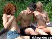 Sex Picknick mit Schulmädchen