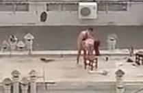 Amateur filmt Paar heimlich beim Sex